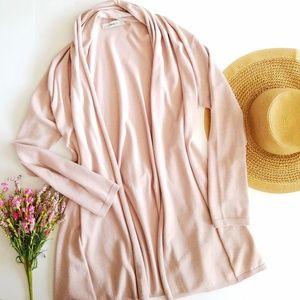Zara Knit | Blush Pink Oversized Cardigan Sweater